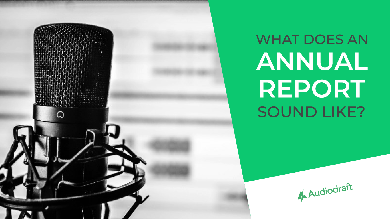Annual report in audio only format