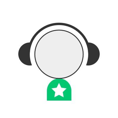 Audiodraft audio designer wearing headphones
